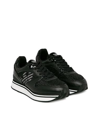 Emporio Armani  Hakiki Deri Ayakkabı Kadın Ayakkabı S X3X046 Xm547 R122 Siyah